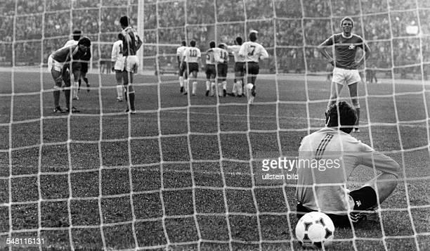 UEFA European Football Championship 1980 Preliminary round Group 4 match in Berlin German Democratic Republic vs Switzerland 52 goal cheer GDR 51...