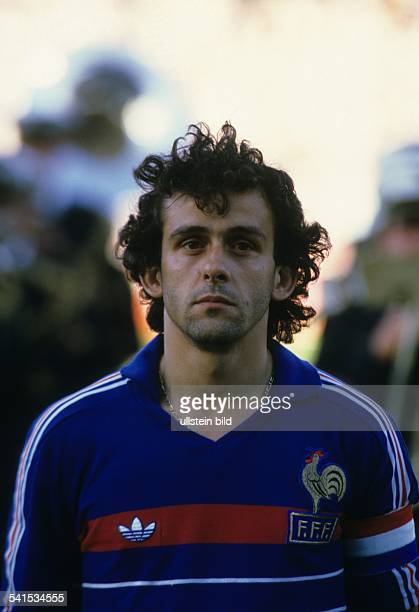 European Football Championship 1984, Final_tournament in France, semi-final in Marseille: France vs. Portugal 3:2 e.t., portrait of Michel PLATINI ,...