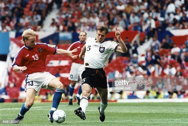 UEFA European Football Championship 1996 in England group C in Manchester Germany vs Czech Republic 20 scene of the match duel between Radek Bejbl...