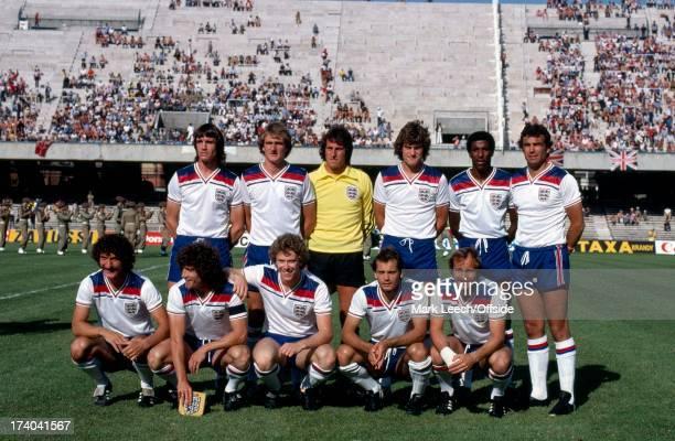 European Football Championships England v Spain Naples The England team group