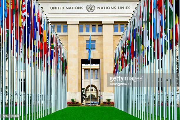 european headquarters of the united nations - geneva switzerland stock pictures, royalty-free photos & images