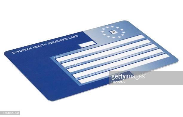 European Health Insurance Card Isolated on White