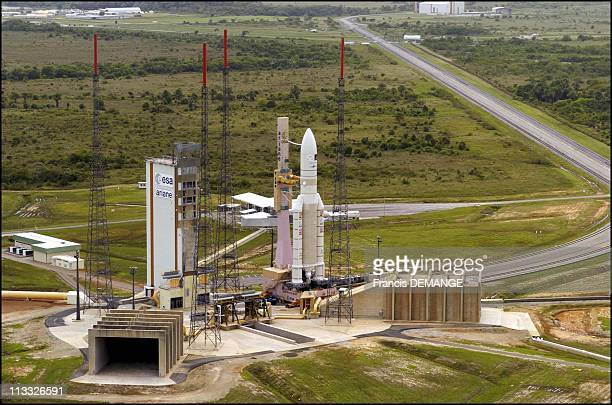 European Heavy Launcher Ariane 5Eca '10 Ton' Lifts Off From Kourou Spaceport In Kourou French Guiana On February 12Th 2005 Aerial View Of Ariane 5Eca...
