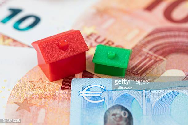 european housing - real estate office stock photos and pictures