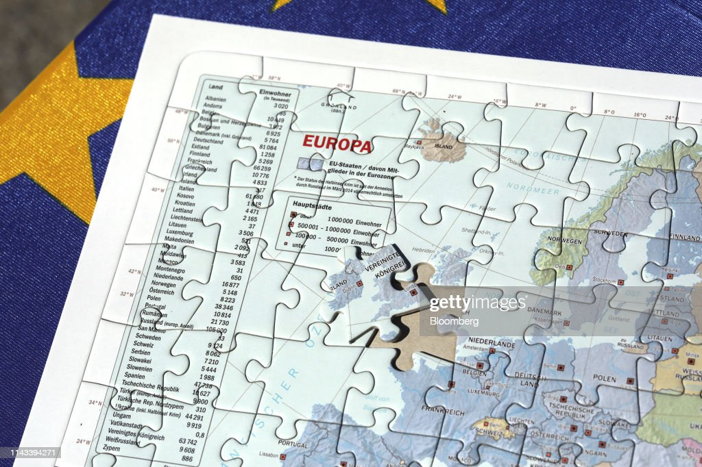 Map Of Uk Jigsaw.A European Map Jigsaw With A Missing Puzzle Piece Of The U K And