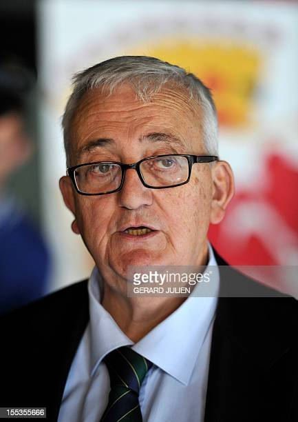 European MP of the Italian party Lega Nord Mario Borghezio is pictured while taking part in a French far-right organization Bloc Identitaire two-day...