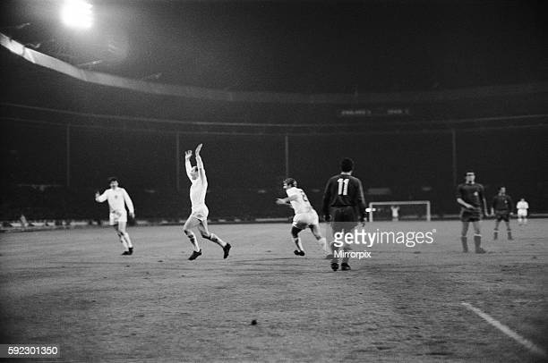 European Nations Cup Quarter Final First Leg match England 1 v Spain 0 England's Bobby Charlton celebrates his 84th minute winning goal during the...