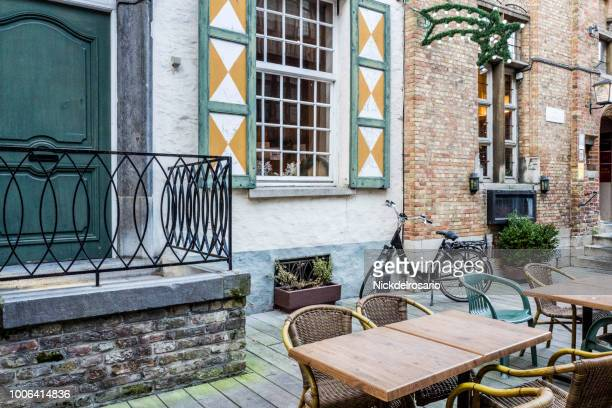 European Outdoor Dining and Bikes of Bruges