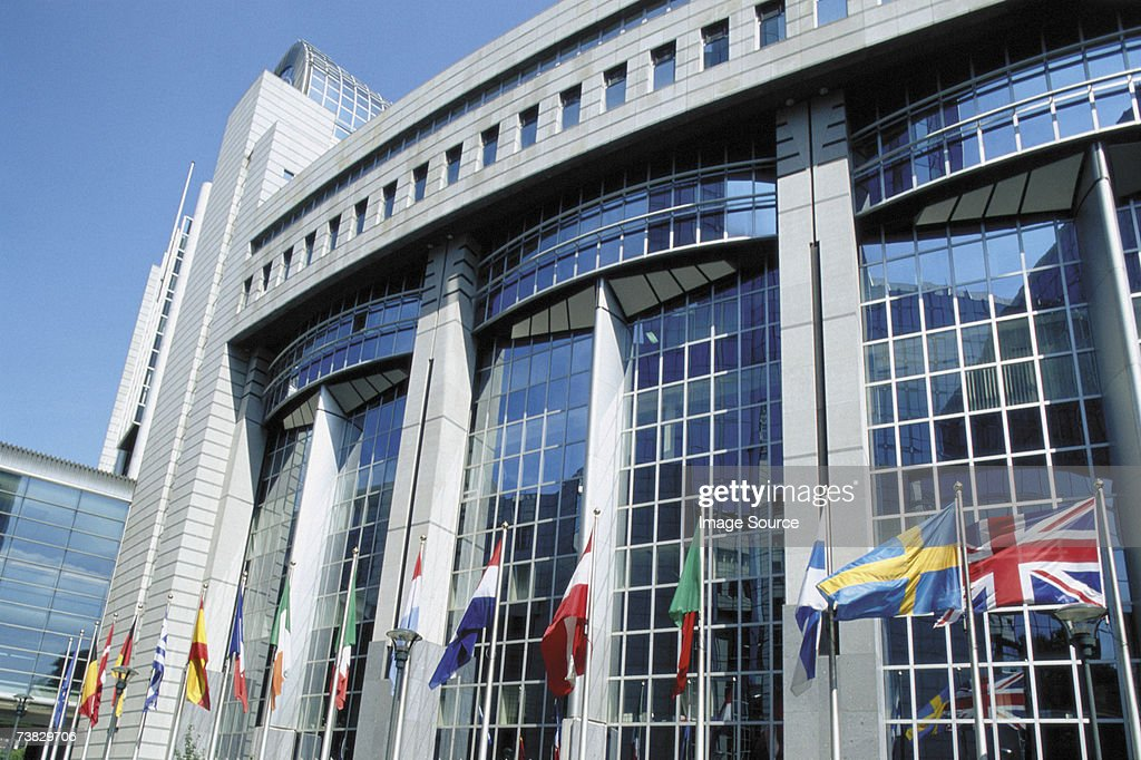 European Parliament, Brussels, Belgium : Stock Photo