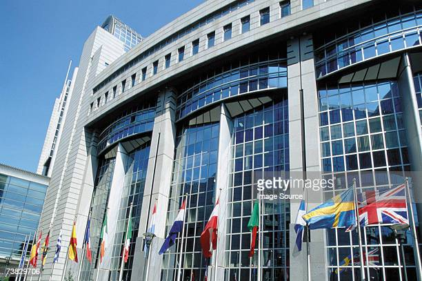 european parliament, brussels, belgium - brussels capital region stock pictures, royalty-free photos & images