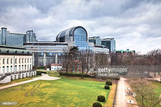 European Parliament Brussels - Paul-Henri Spaak Building - 1995 - Architects: Atelier Espace Leopold - Belgium