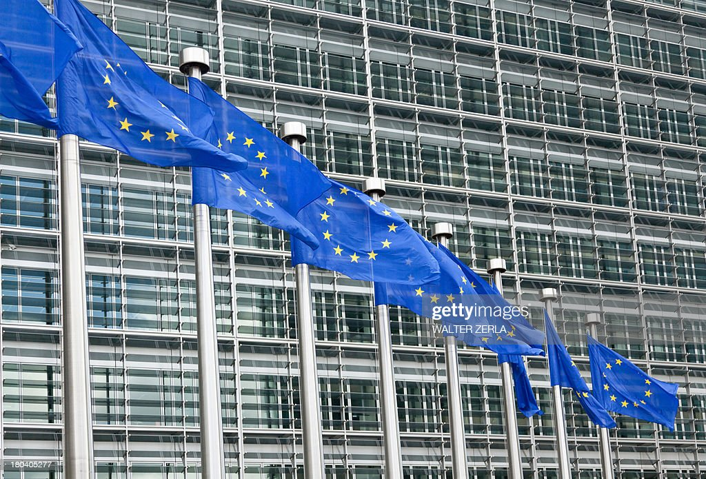 European parliament building, Brussels, Belgium : Stock Photo