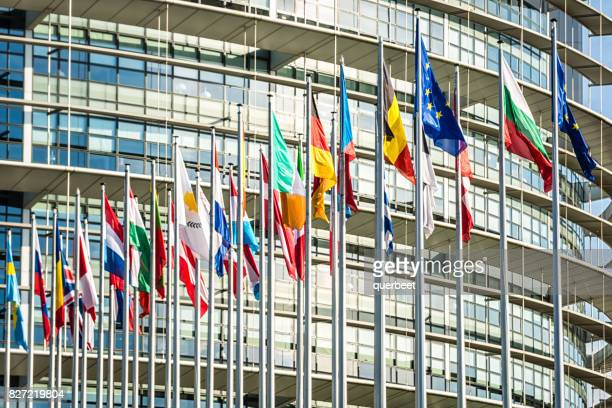 european parliament building in strasbourg - election stock pictures, royalty-free photos & images