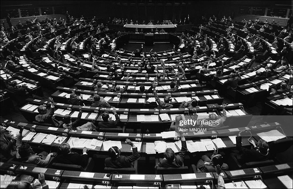 European parliament in Strasbourg, France in 1979.