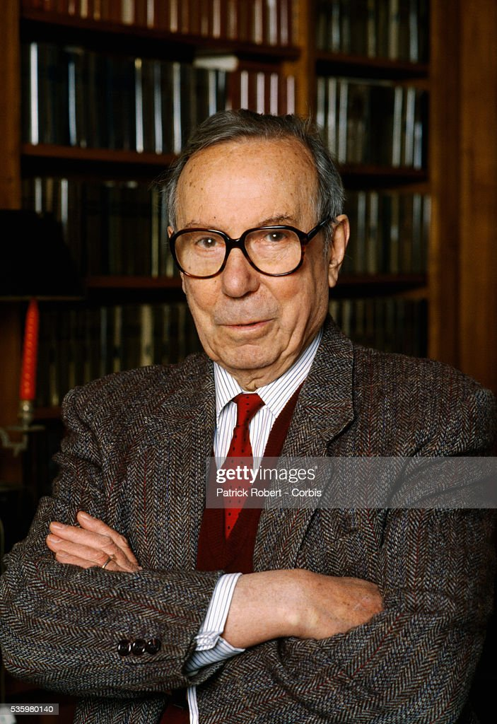 European Parliament member Michel Debre in his study at home in Montlouis-sur-Loire, France. Debre served on the staff of Charles de Gaulle during the mid 1940s, and was the French Prime Minister up until 1962.