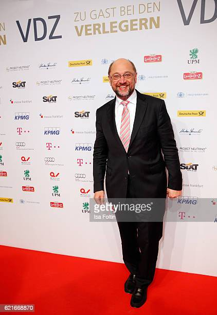 European Parliament President Martin Schulz during the VDZ Publishers' Night 2016 at Deutsche Telekom's representative office on November 7 2016 in...