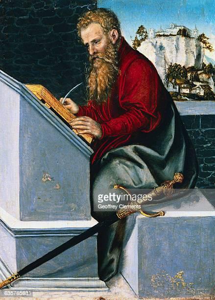 European Renaissance Painting of Saint Paul Writing