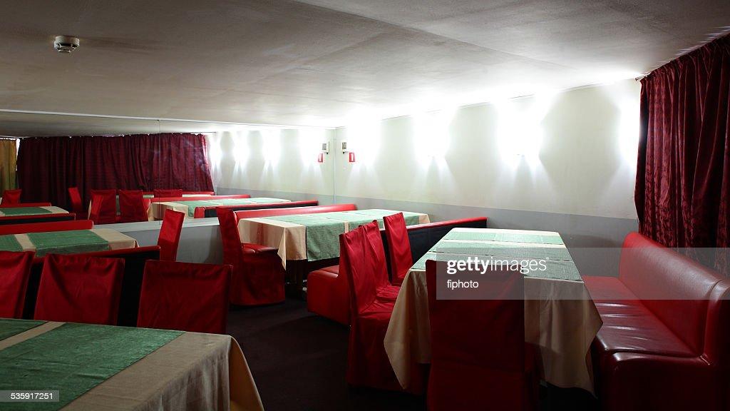 european restaurant in bright colors : Stock Photo