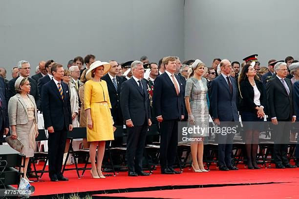 European royals including Grand Duchess Maria Teresa of Luxembourg Grand Duke Henri of Luxembourg Queen Mathilde of Belgium King Philippe of Belgium...