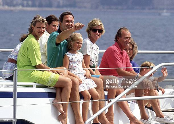 European royals leave the harbour at Palma de Mallorca on King Juan Carlos of Spain's motor cruiser during a family holiday in the Balearic Islands...