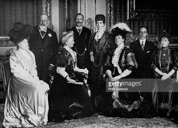 European royalty at Windsor Castle 17th November 1907 Queen Ena of Spain King Edward VII the German Empress Kaiser Wilhelm II of Germany Queen...