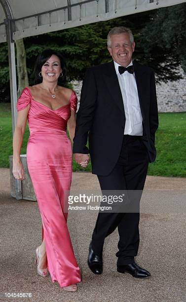 European Ryder Cup captain Colin Montgomerie and his wife Gaynor Montgomerie arriving at the 2010 Ryder Cup Dinner at Cardiff Castle on September 29...