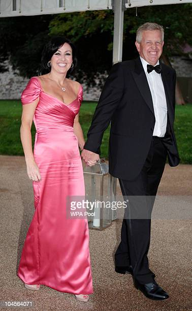 European Ryder Cup captain Colin Montgomery and Gaynor Montgomery attend the 2010 Ryder Cup Dinner at Cardiff Castle on September 29 2010 in Cardiff...