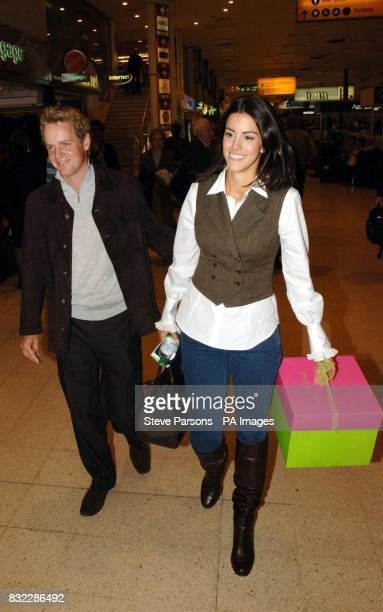 European Ryder Cup team member Luke Donald and girlfriend Diane Antonopoulos arrive at Heathrow Airport London for their flight to Dublin