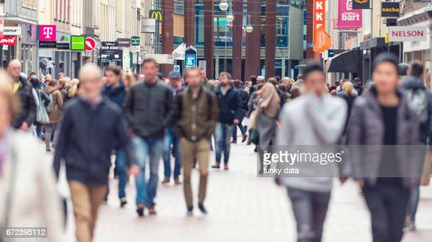 european shopping street segment - netherlands stock pictures, royalty-free photos & images