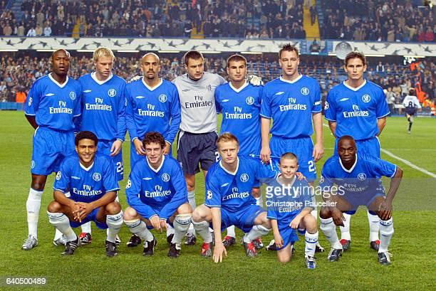 European Soccer Champions League. Season 2003-2004. First Round. Chelsea FC vs S.S Lazio Roma. Chelsea FC team. Football, Ligue des Champions. Saison...