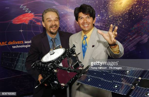 European Space Agency Smart1 scientist's Professor Manuel Grande of Rutherford Appleton Laboratory Didcot Oxfordshire and Dr Bernard Foing of Project...