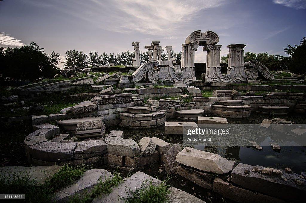 European style ruins (Beijing) : Foto de stock