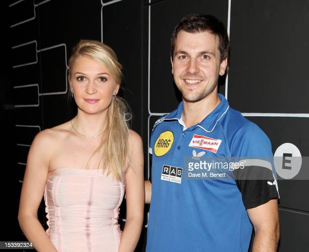 European Table Tennis Champion Daniela Dodean and German professional table tennis player Timo Boll attend the launch of Bounce Holborn's new Ping...