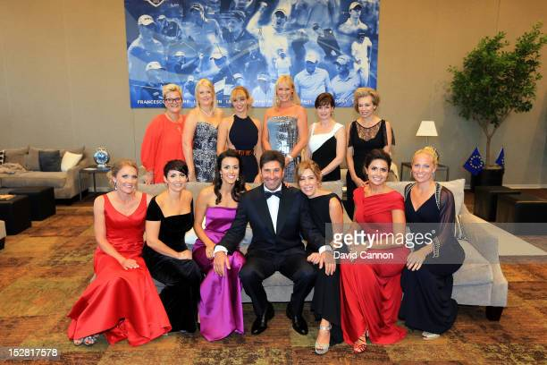 European Team captain Jose Maria Olazabal poses for a photograph with the European players wives and partners prior to the 39th Ryder Cup gala>> at...