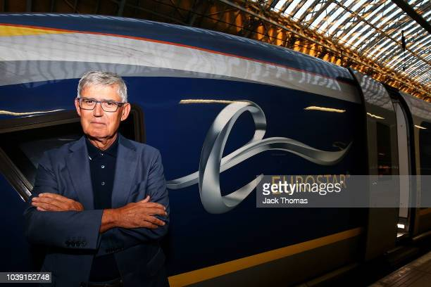 European Tour Chairman David Williams poses for a photo before he leaves St Pancras on the Eurostar to travel to Paris on September 24 2018 in London...