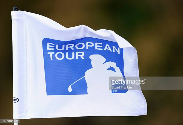 European Tour flag during the second round of the European Tour qualifying school final stage at PGA golf de Catalunya on December 6 2010 in Girona...