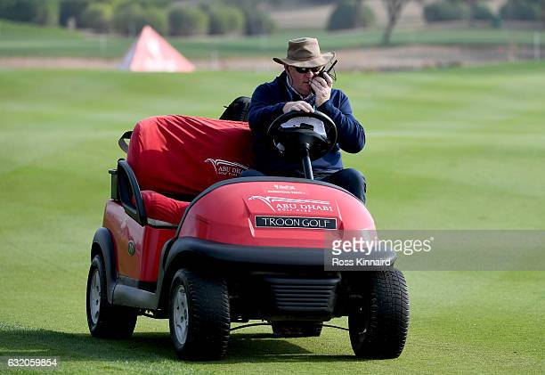 European Tour Referee Andy McFee during the first round of the Abu Dhabi HSBC Championship at Abu Dhabi Golf Club on January 19 2017 in Abu Dhabi...