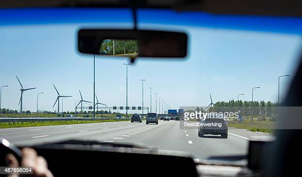 European traffic on freeway on a quiet day