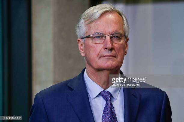 European Union chief Brexit negotiator Michel Barnier attends a press conference about the Brexit after a meeting with Ireland's PM and EC President...