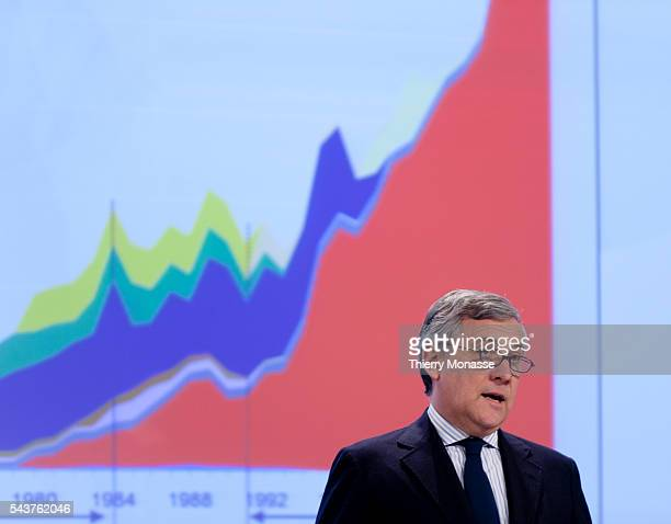 European Union Commissioner for Internal Market and Services EU industry and entrepreneurship commissioner Antonio TAJANI and European Commissioner...