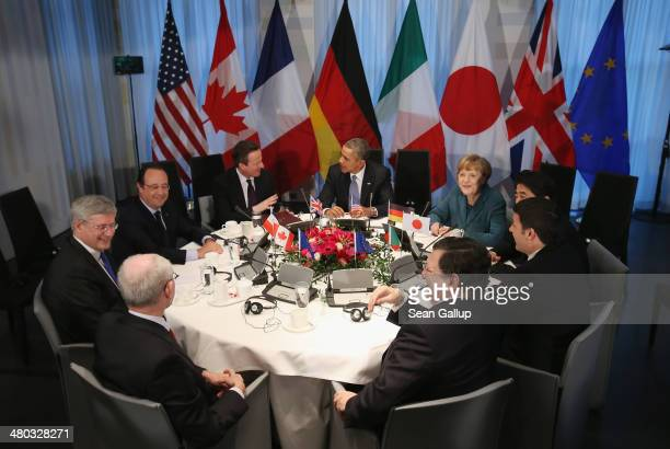 European Union Council President Herman Van Rompuy Canadian Prime Minister Stephen Harper French President Francois Hollande British Prime Minister...