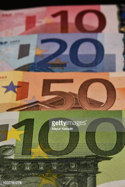 european union currency notes - monetary policy stock pictures, royalty-free photos & images