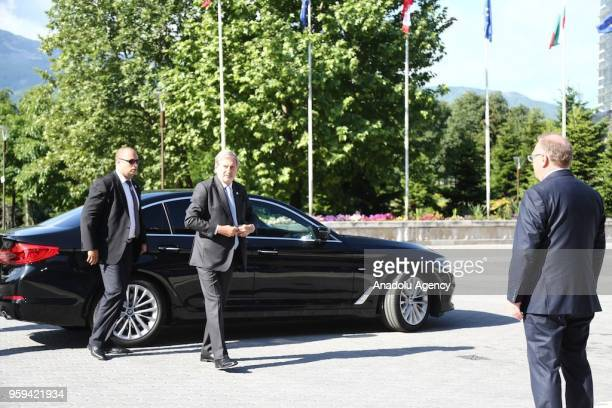 European Union European Neighbourhood Policy Enlargement Negotiations Commissioner Johannes Hahn arrives to attend EUWestern Balkans Summit in Sofia...
