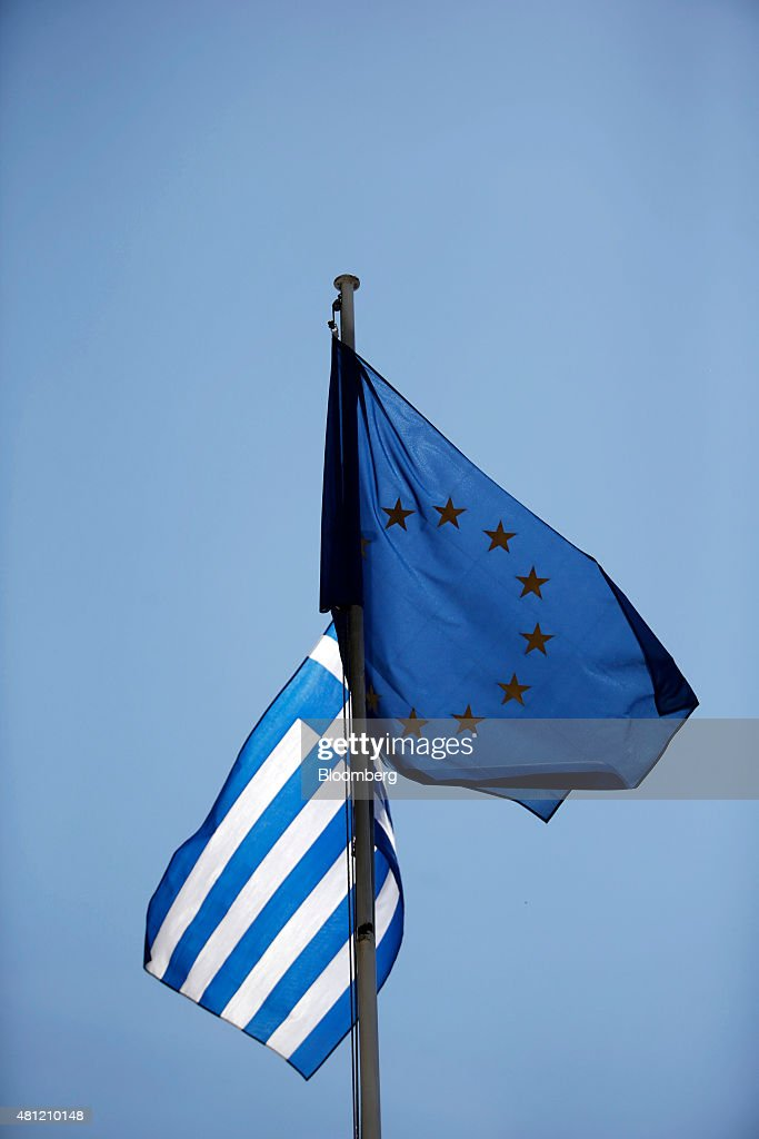 General Economy As Agreement By European Member States Prevents An Immediate Default : News Photo