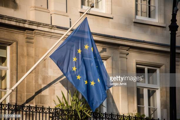 european union flag - diplomacy stock pictures, royalty-free photos & images