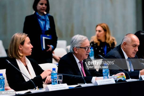 European Union for Foreign Affairs and Security Policy Federica Mogherini President of the European Commission JeanClaude Juncker and Bulgarian Prime...
