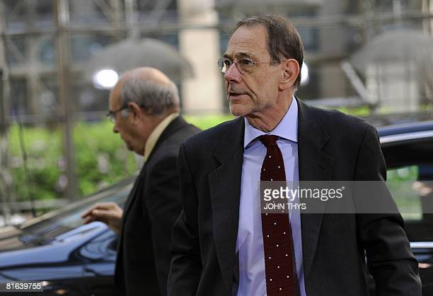 European Union Foreign Policy Chief Javier Solana arrives for a second day of a European Summit at the heardquarters of the European Council on June...