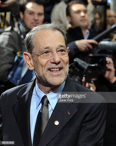 European Union Foreign Policy Chief Javier Solana arrives for a second day of European Council summit at the headquarters of the European Council on...