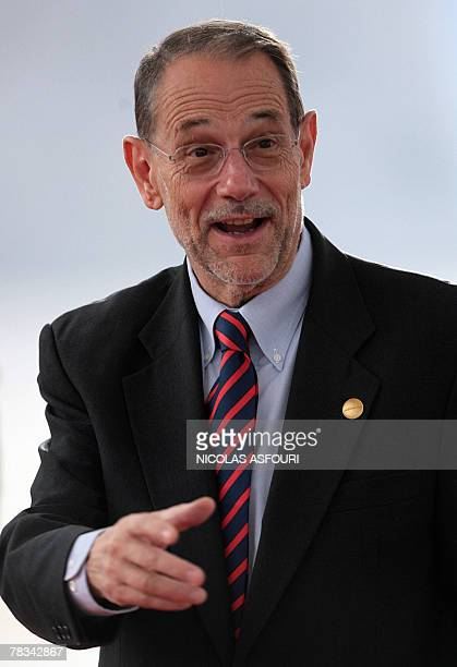 European Union Foreign Policy Chief Javier Solana arrives on the second day of a EUAfrica summit 09 December 2007 in Lisbon Europe and Africa have...