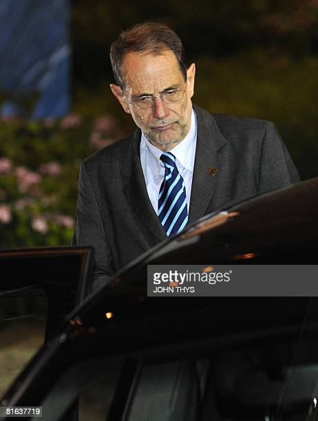European Union Foreign Policy Chief Javier Solana leaves the European Summit at the headquarters of the European Council early June 20 2008 in...